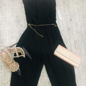 Pants - One of a kind romper with pretty chain belt
